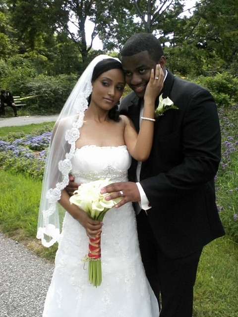 Azeb and randy at queens 39 botanical garden long island for Wedding officiant long island